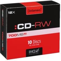 Intenso CD-RW 700MB 10er SLIMCASE 12x
