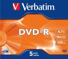 Verbatim DVD-R 4,7GB 16X 5er JC