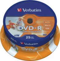 Verbatim DVD-R 4,7GB 16X 25er SP Printable