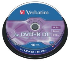 Verbatim DVD+R DL 8,5GB 8x 10er SP