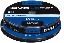 Intenso DVD+R 8,5GB 8x Double Layer Printable 10er Spindel