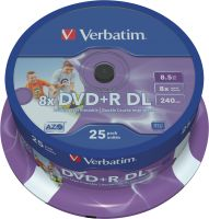 Verbatim DVD+R DL 8,5GB 8x 25er SP Printable