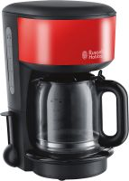 Russell Hobbs Colours Plus+ Flame Red Glas-Kaffeemaschine