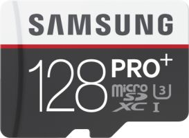 Samsung PRO+ 128GB micro SDXC Card 95MB/s + Adapter