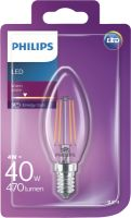 Philips LEDClassic 40W B35 E14 WW CL ND 1BC/4