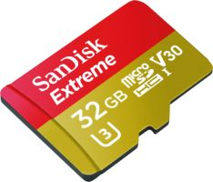 Sandisk Extreme microSDHC 32GB 90MB/s für Action Cam UHS-I