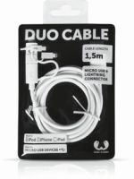 Fresh´N Rebel Duo Cable Apple Lightning + USB Micro - 150cm