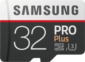Samsung PRO Plus 32GB microSDHC Card 100MB/s  + SD-Adapter