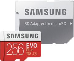 Samsung EVO Plus 256GB microSDXC Card 100MB/s + SD-Adapter