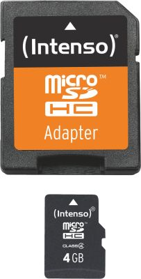 Intenso Micro SD Card 4GB Class 4 inkl. SD Adapter_0