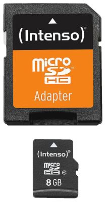 Intenso Micro SD Card 8GB Class 4 inkl. SD Adapter_0